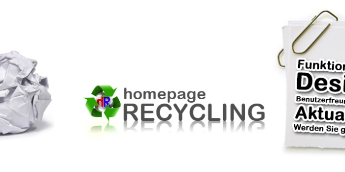 Bedeutung Homepage Recycling